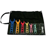 AN Wrench Kit, 8-Piece, Aluminum, Anodized, -3 AN through -20 AN, Storage Pouch, Kit 66978