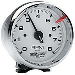 "3 3/4"" Autogage Chrome 8,000 RPM Tachometer"
