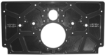 Sprint Car Aluminum Rear Motor Plate. Raised Rail. Black.