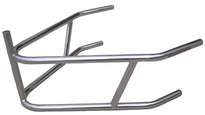 Sprint Car Rear Bumper With Post. 4130 Chromoly. Plated.