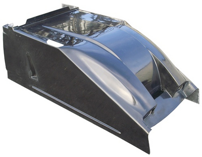Sprint Car Dual Duct Cool Air Hood Black